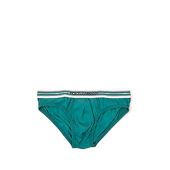 Dolce E Gabbana mens N3B82JFUEB0N0917 light blue/green cotton briefs