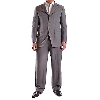 Armani Collezioni men's MCBI024014O grey cotton suit