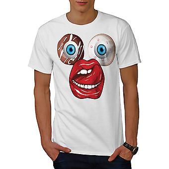 Donut Eye Junk Weird Men WhiteT-shirt | Wellcoda