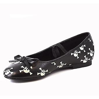 Ellie Shoes E-013-Skull Children 0 Glow In The Dark Skull Ballet Flat
