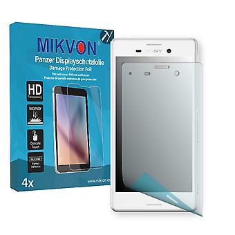 Sony Xperia M4 Aqua Screen Protector - Mikvon Armor Screen Protector (Retail Package with accessories)