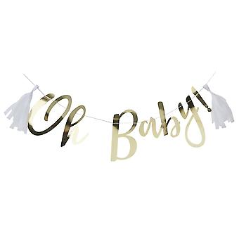 GOLD FOILED OH BABY! BUNTING - OH BABY! VAR