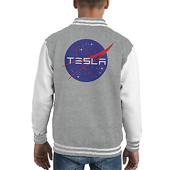 Tesla Roadster Nasa Logo Kid's Varsity Jacket