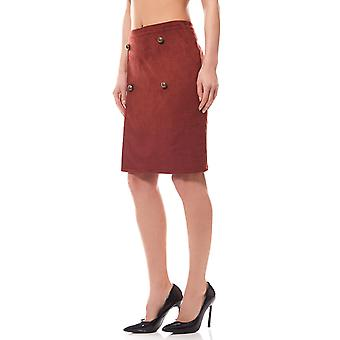 Rick cardona by heine knee-length skirts leather ladies Red