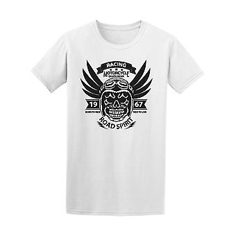 Motorcycle Skull Rider Road Race Tee Men's -Image by Shutterstock