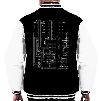Atari 2600 Computer Schematic Men's Varsity Jacket
