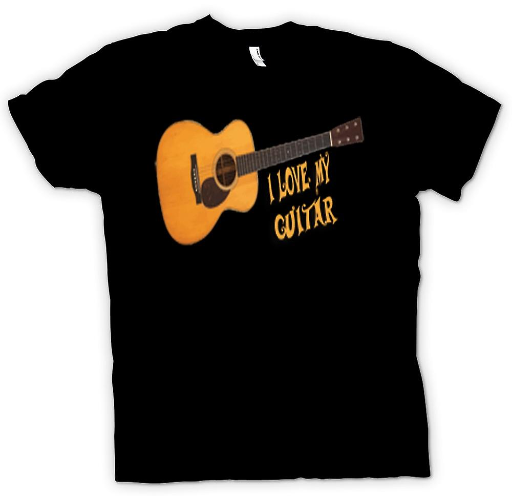 Femmes T-shirt - I Love My Guitare Acoustique