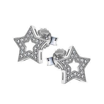 Orphelia Silver 925 Earring Star Outline With Zirconium  ZO-7338