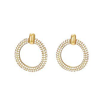 ESPRIT women's earrings gold cubic zirconia Peribess ESER02690B000