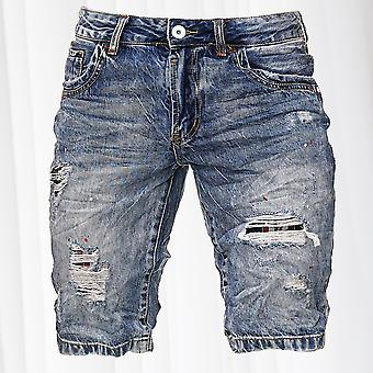 Men's Bermuda Shorts Ripped Jeans Short Capri Pants Used Denim Pants Stretch