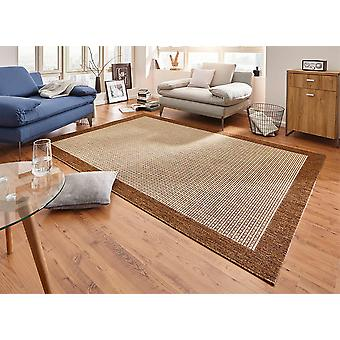 Design carpet flat weave simple with Brown trim