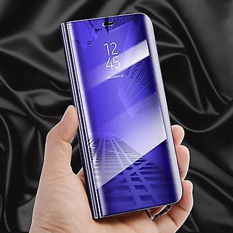 Da Samsung Galaxy J6 J600 2018 visão clara espelho espelho tampa inteligente roxo tampa protetora bolsa saco caso novo caso acordar função