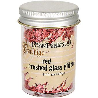 Stampendous Frantage Crushed Glass Glitter 1.41oz-Red