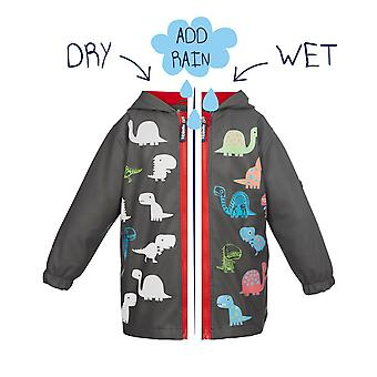 Squidkids Dino Colour Changing Raincoat