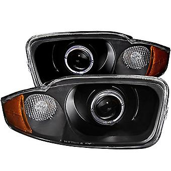 Anzo USA 121437 Black Halo Projector Headlight with Clear Lens and Amber Reflector for Chevrolet Cavalier