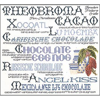 Chocolate Sampler On Aida Counted Cross Stitch Kit-15.25