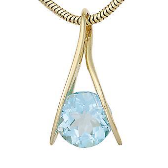 Blue Topaz smykker, Blue Topaz anheng 375 gull gul gull 1 Blue Topaz