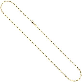 Far - chain 585 Yellow Gold 2 mm 50 cm carabiner gold chain necklace gold necklace