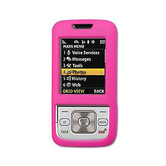 Gummibelagt hårdt plastik etui til Samsung M330 - Hot Pink