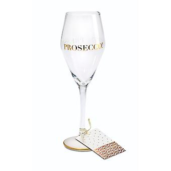 Here's To You Megan Claire Prosecco Party Wine Glass