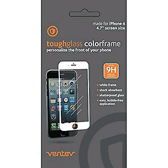 Ventev Toughglass Screen Protector for iPhone 6/6s/7/8 - Clear with White Frame