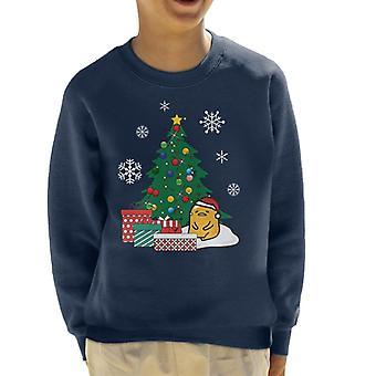 Gudetama Around The Christmas Tree Kid's Sweatshirt