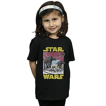Star Wars Girls The Last Jedi AT-AT T-Shirt