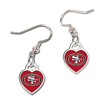 Wincraft ladies 3D heart earrings - NFL San Francisco 49ers