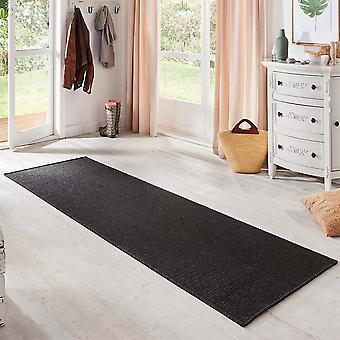 Flat fabric runner nature natural black sisal look