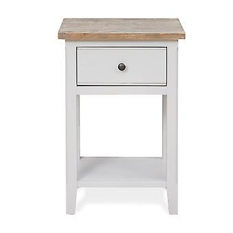 Signature One Drawer Lamp Bedside/Living Room Table Grey-Baumhaus
