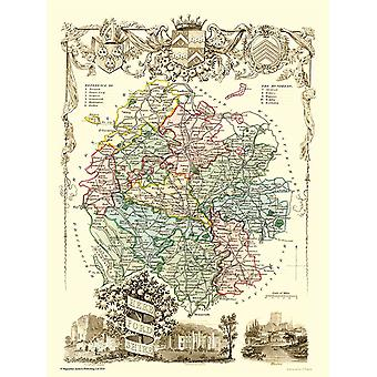 Old Map of Herefordshire 1836 by Thomas Moule 1000 Piece Jigsaw Puzzle (jhg)