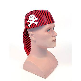 Pirate Skull Hat Red/Black.