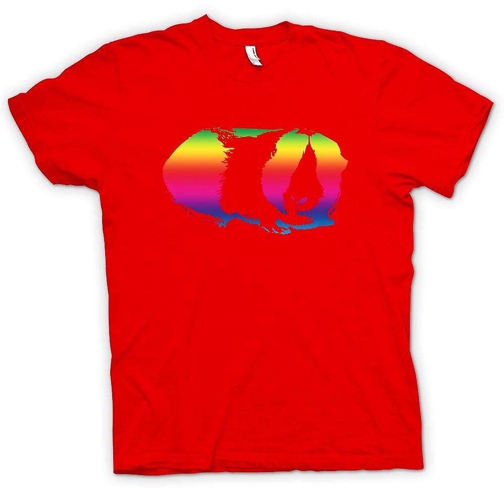 Mens T-shirt - Guinea Pig Rainbow