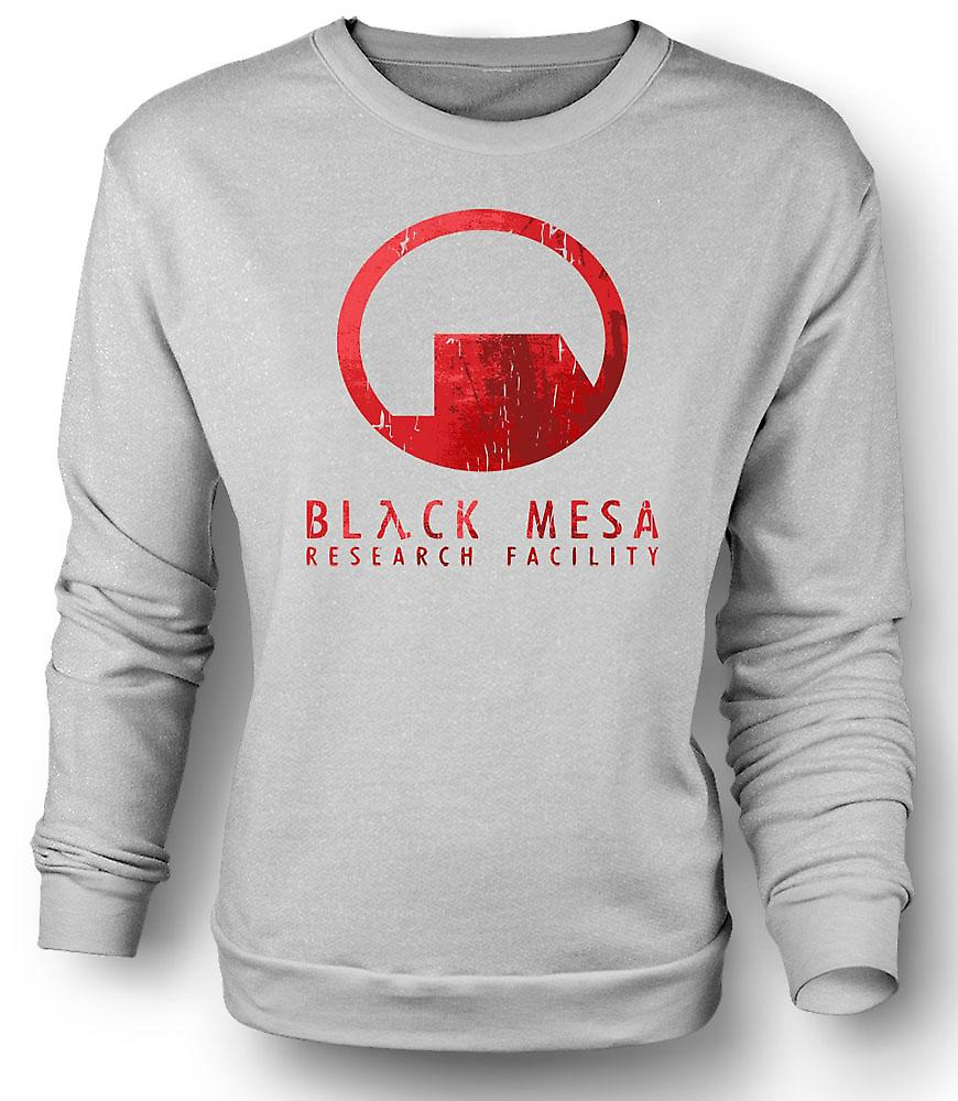 Mens Sweatshirt Black Mesa Research Facility BMRF - Gamer