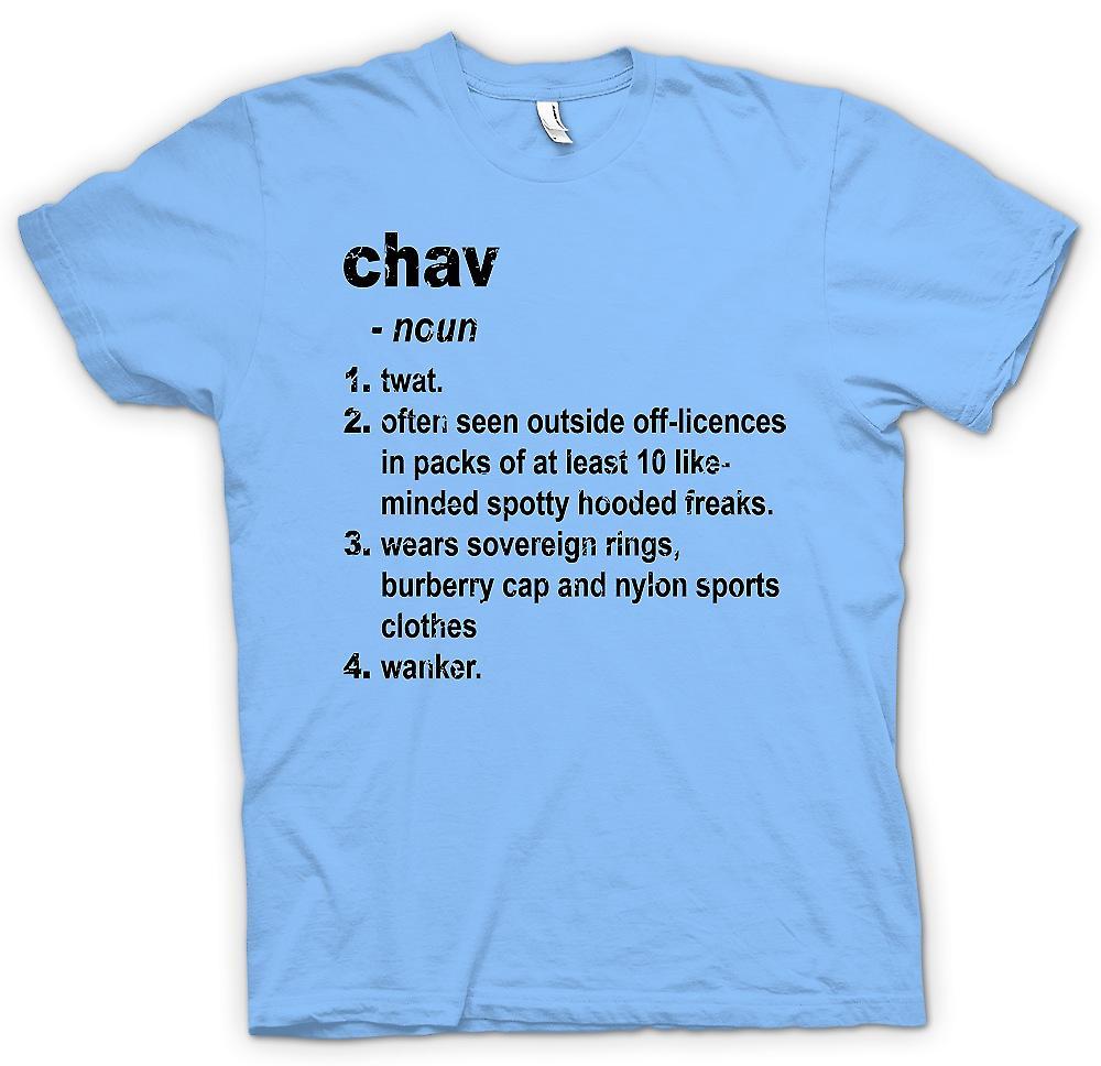 Heren T-shirt - Chav begrip - briljant grappige woordenboek