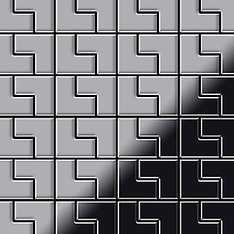 Metal mosaic Stainless Steel ALLOY Kink-S-S-M