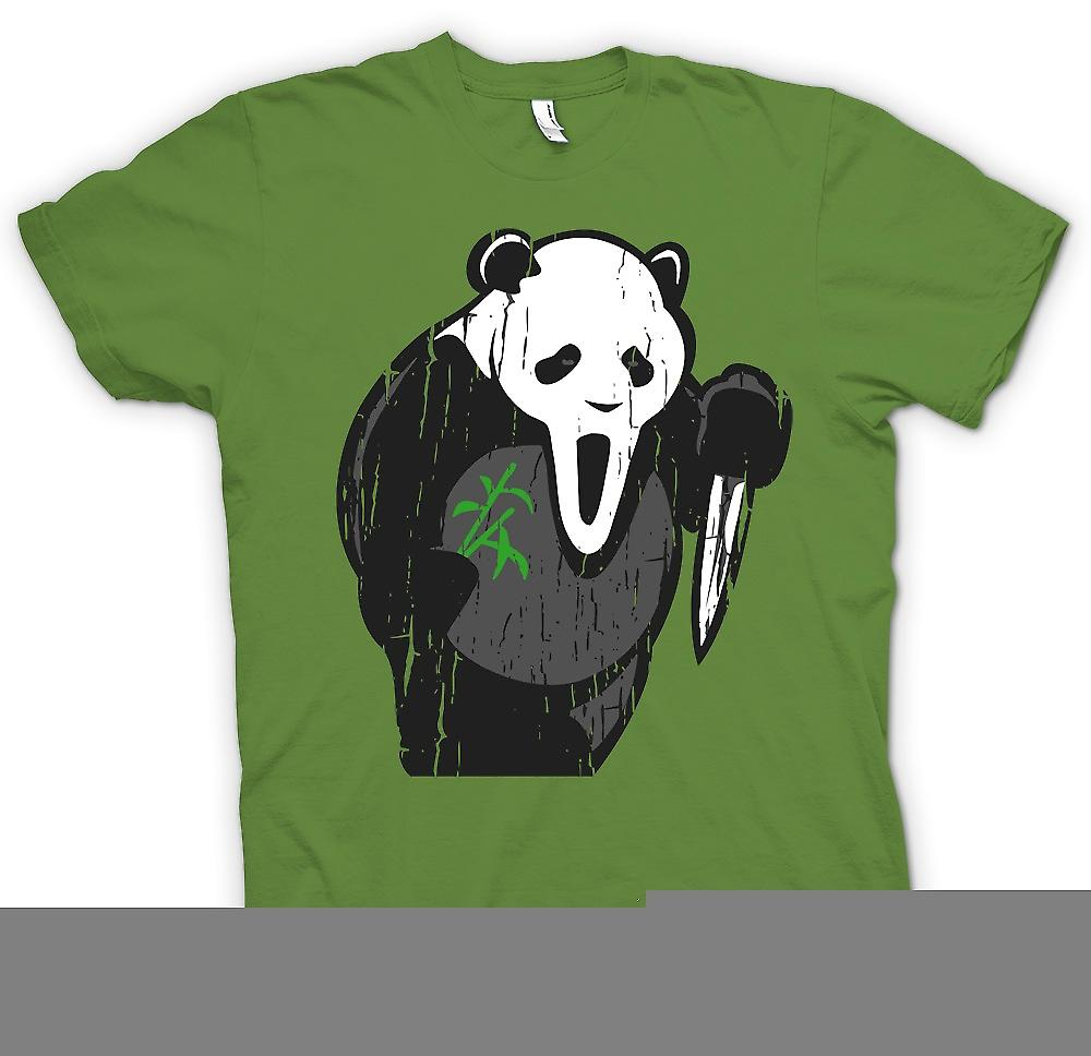 Heren T-shirt - Panda Scream gezicht - grappige Horror