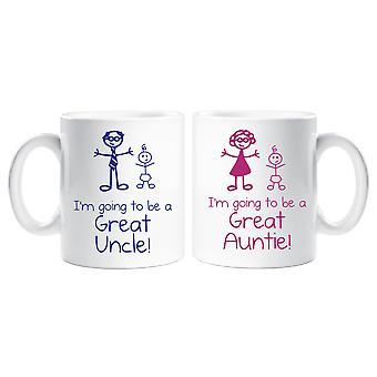 Voy a ser un gran tío tía taza Set
