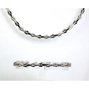 Toc Sterling Silver 50gr Collarette Necklace and Bracelet Gift Set