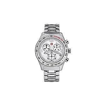 Swiss military mens Bracelet Watch, Chronograph, 20074ST-2M