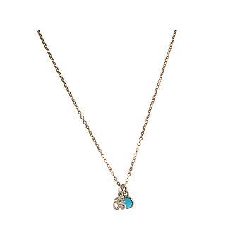 Gemshine YOGA Meditation Ohm Halskette aus 925 Silber. 1,3 cm Anhänger mit blau grünem Türkis. Nachhaltiger, qualitätsvoller Schmuck Made in Spain
