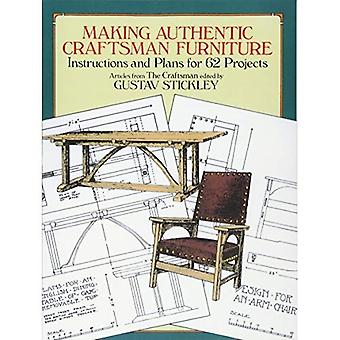 Making autentisk håndværker møbler: Instruktioner og planer for 62 projekter (Dover bøger på træbearbejdning & udskæring)