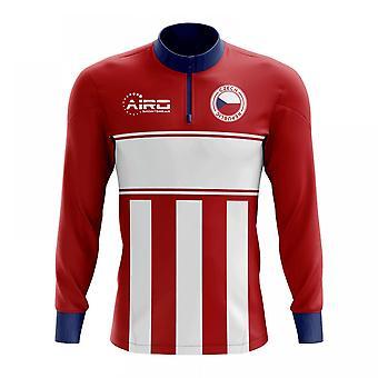 8df16d613aa Czech Republic Concept Football Half Zip Midlayer Top (Red-White)