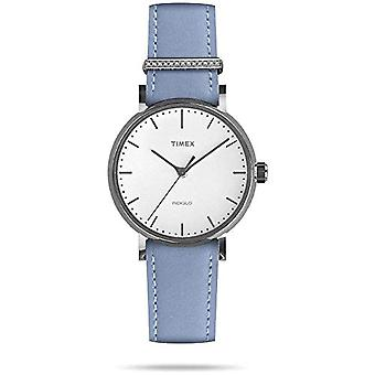 Timex Analog quartz ladies watch with leather TW2R70300VQ