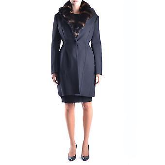Ermanno Scervino Black Wool Coat