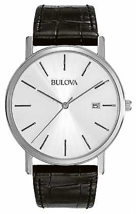 Bulova Mens Dress sølv svart 96B104 Watch