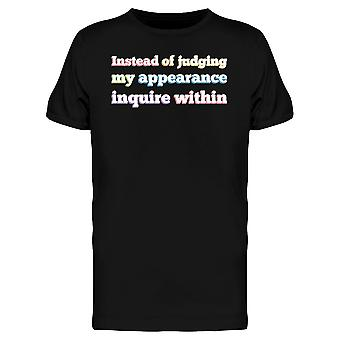 Instead Of Judging Lgbt Quote Men's T-shirt