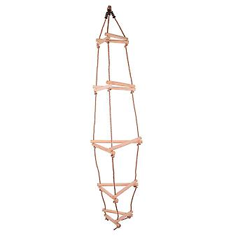Bigjigs Toys Triangular Rope Ladder - Wooden Rungs - Climbing Frame - Tree house