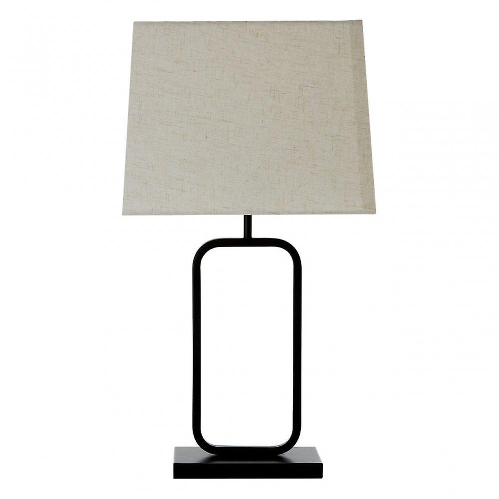 Premier Home Lucas Table Lamp, Fabric, noir