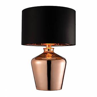 Lámpara de mesa cobre vidrio